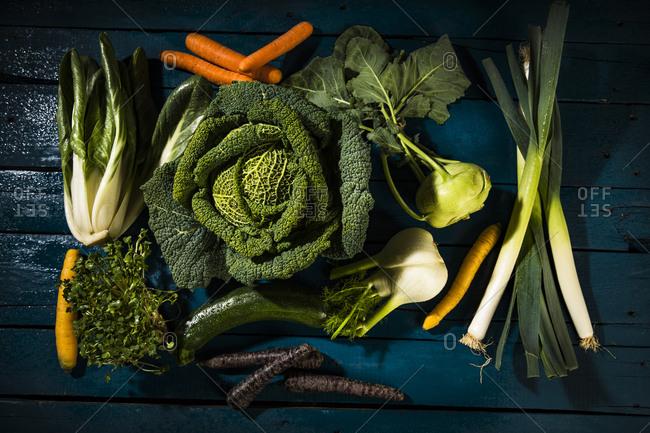 Various sorts of vegetables