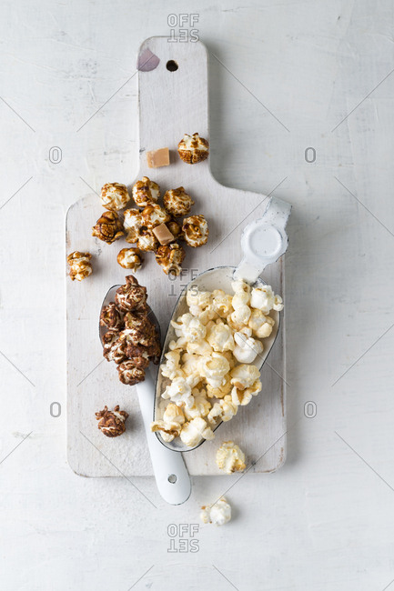 Various sorts of popcorn