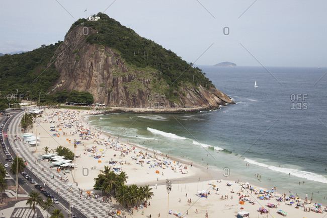 April 6, 2018: Leme Beach And Leme Fort; Rio De Janeiro, Brazil