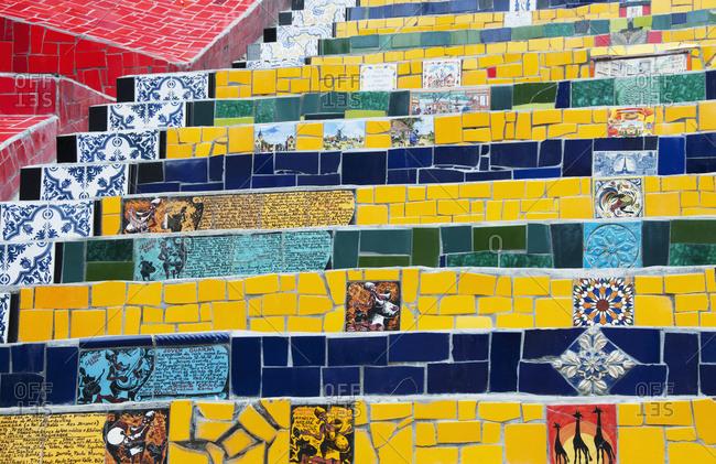 April 6, 2018: Selaron's Staircase; Rio De Janeiro, Brazil