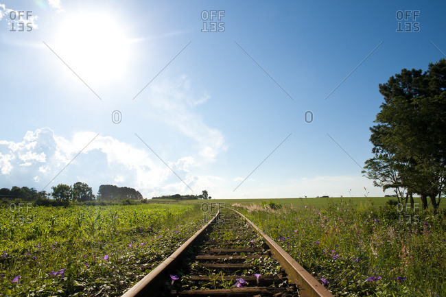 April 6, 2018: Old Rail Tracks In Santa Barbara Do Sul, Rio Grande Do Sul, Brazil