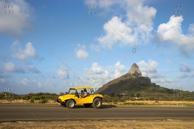 April 6, 2018: Brazil, Pernambuco, Buggy and views of Morro do Pico; Fernando de Noronha