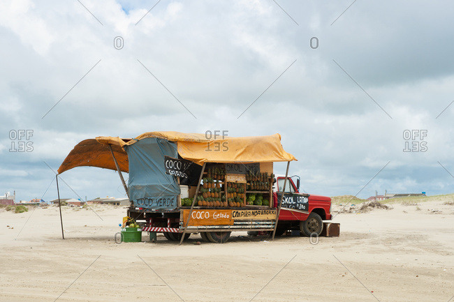 April 6, 2018: Casino Beach; Rio Grande Do Sul, Brazil