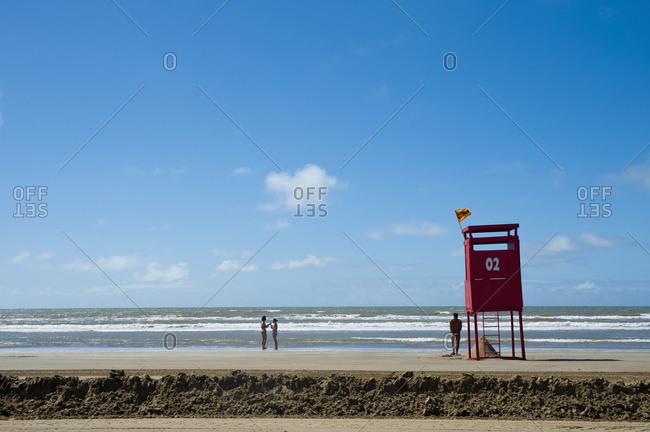 April 6, 2018: Lifeguard On Casino Beach; Rio Grande Do Sul, Brazil