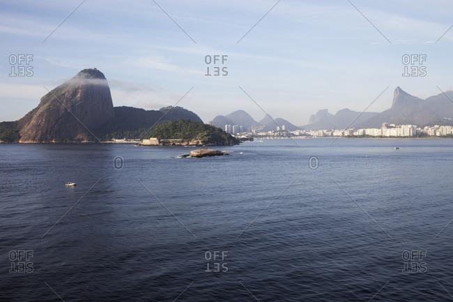 April 5, 2018: Sugarloaf Mountain, Botafogo, Christ The Redeemer Statue; Rio De Janeiro, Brazil