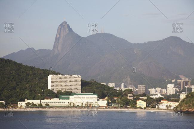 April 5, 2018: Fora Beach, Christ The Redeemer Statue; Rio De Janeiro, Brazil