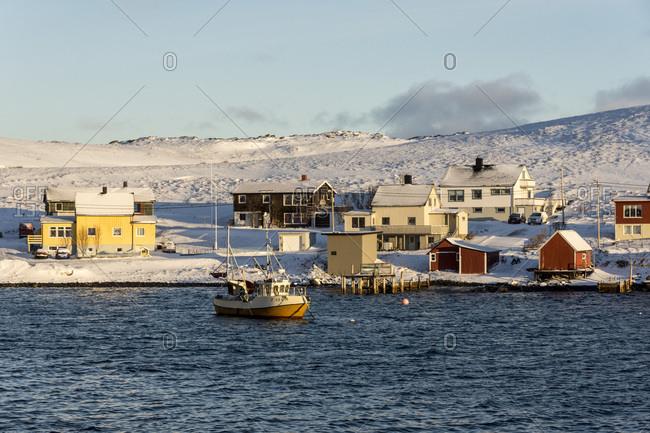 February 19, 2017: Havoysund, Finnmark, Arctic, northern Norway, Scandinavia, Europe