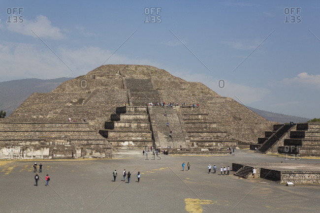 December 2, 2017: Pyramid of the Moon, Teotihuacan Archaeological Zone, UNESCO World Heritage Site, State of Mexico, Mexico, North America