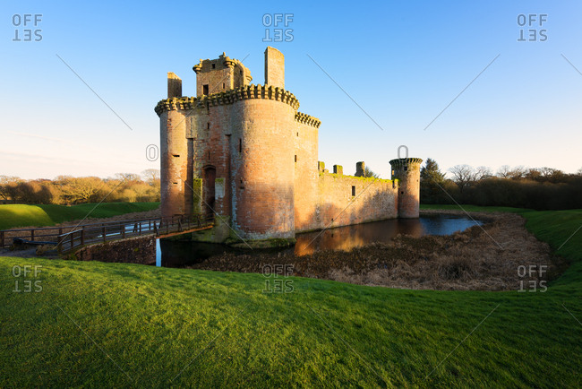 Caerlaverock Castle, Dumfries, Scotland, United Kingdom, Europe
