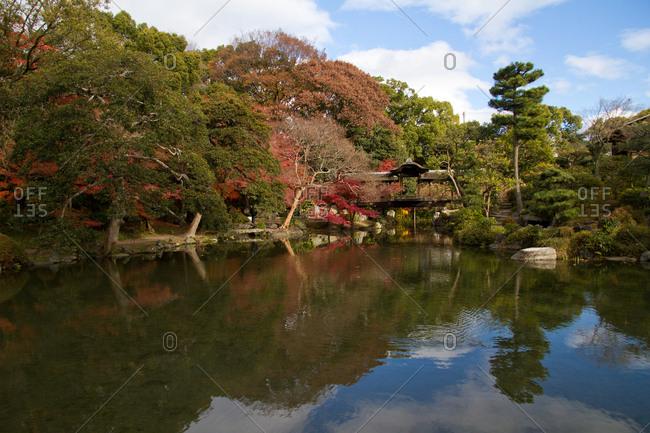 The gardens of Shosei-en, Kyoto, Japan, Asia