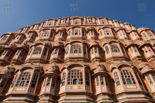 The Hawa Mahal (Palace of the Winds) in central Jaipur, Rajasthan, India, Asia