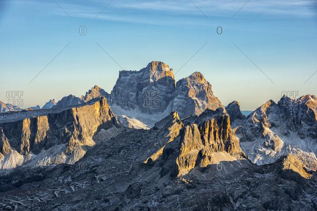 Pelmo at sunset, Dolomites, Veneto, Italy, Europe