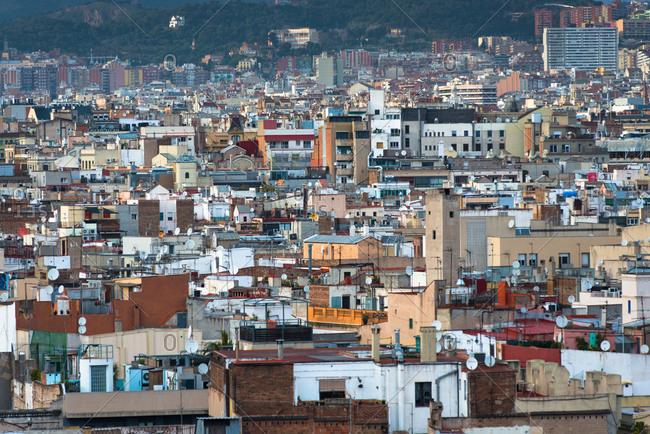 January 21, 2017: Urban sprawl, Barcelona, Catalonia, Spain, Europe