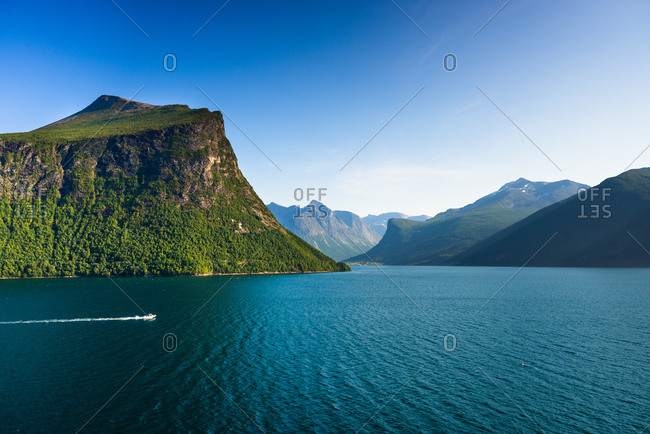 Nordfjord (Northern Fjord) near Olden, Fjordane county, Norway, Scandinavia, Europe