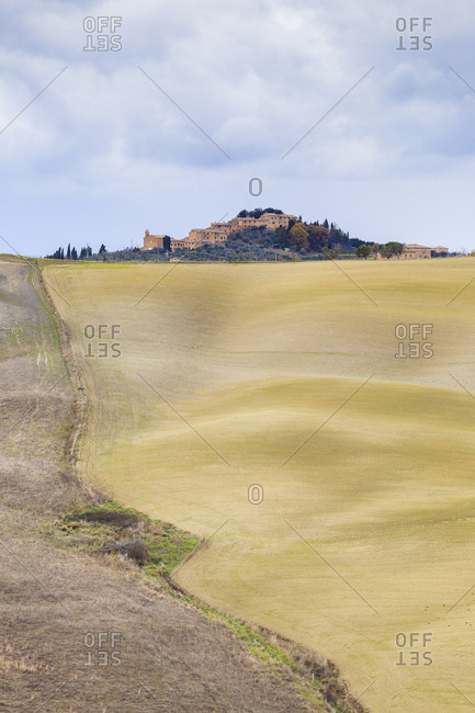 Village called Chiusure, located in the hills of Val d'Orcia, UNESCO World Heritage Site, Siena province, Tuscany, Italy, Europe