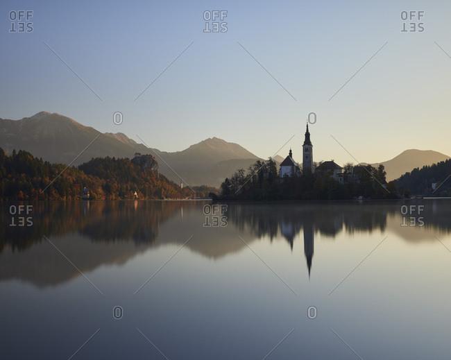 Sunrise, Lake Bled, Slovenia, Europe