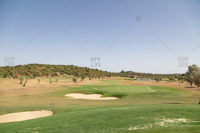 Golf course in Algarve, Portugal