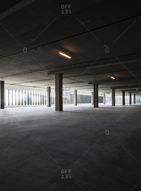 Large empty raw office space