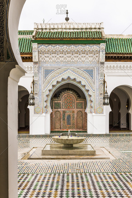 Fes el Bali (Old Fes), Medina, the main courtyard of Kairaouine Mosque, Fez, Morocco