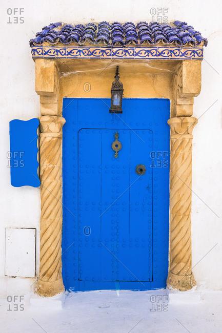 Kasbah des Oudaias, typical door, Rabat, Morocco