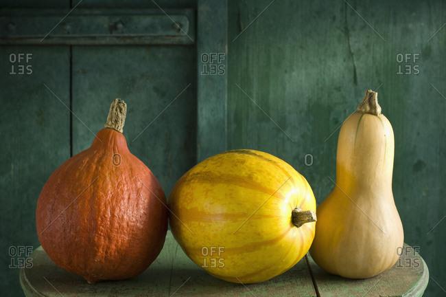 Hokkaido pumpkin- spaghetti squash and butternut squash