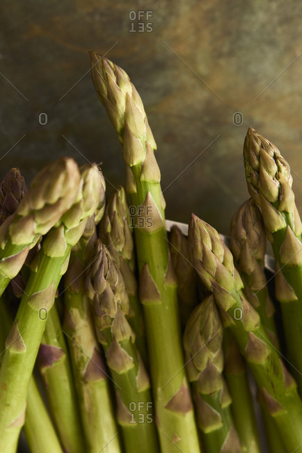 Close up view of Asparagus tips