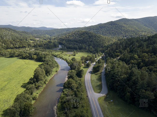 Beautiful drive through Route 100 in Stockbridge, Vermont