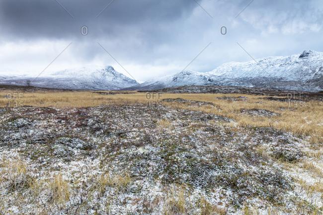 Scandinavian alps, Hydalen Nature Reserve, forward Hydalsberget mountain, Norway