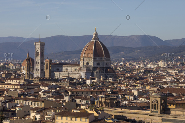 A  view of Florence showing Florence's Cathedral, Basilica di Santa Maria del Fiore