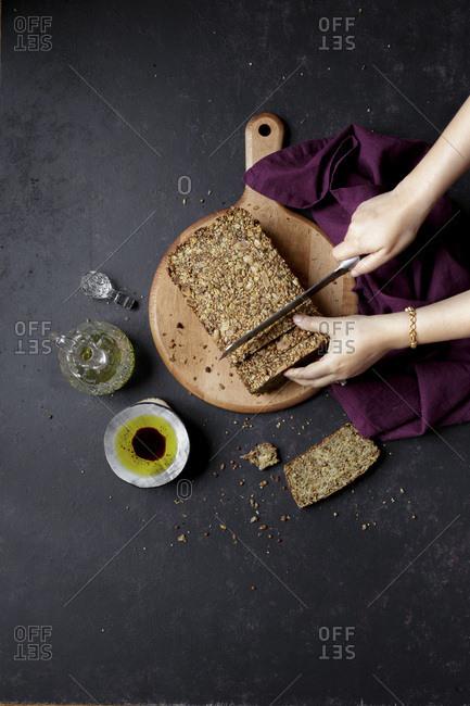 Gluten free bread and oil