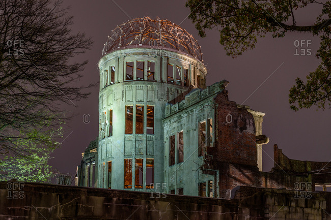 Genbaku Dome at night