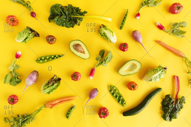 Assorted vegetable ingredients from above