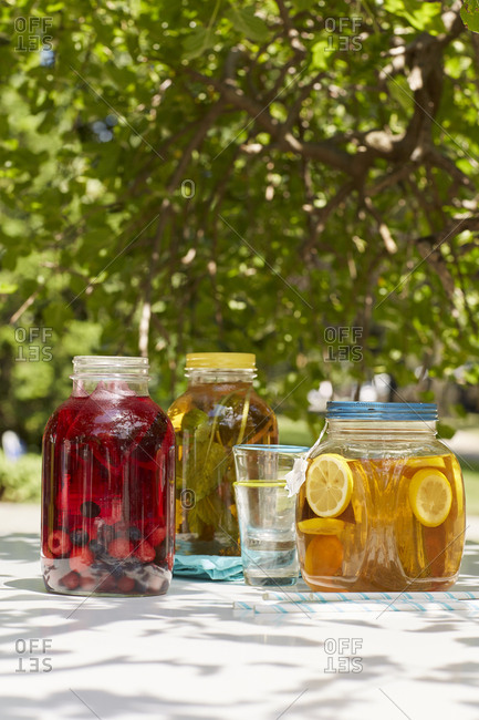 Summer picnic with fruit infused teas