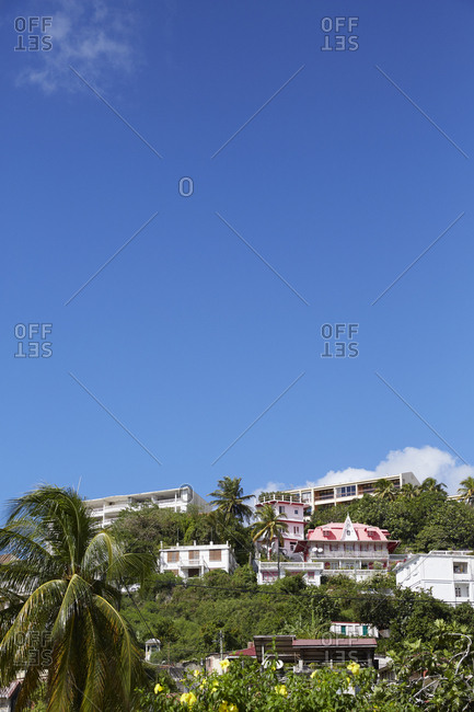 View of hillside village from Boulevard Allegre, Martinique