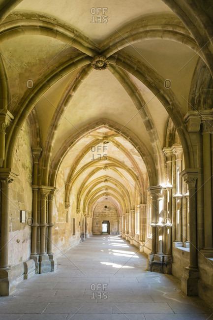 May 10, 2017: Interior of Maulbronn Monastery (Kloster Maulbronn), UNESCO World Heritage Site, Maulbronn, Baden-Wurttemberg, Germany