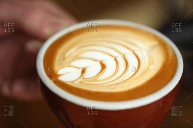 Detail of latte art
