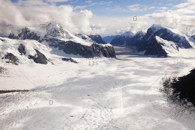 Mountains of Alaska Range, Denali National Park, Alaska, USA