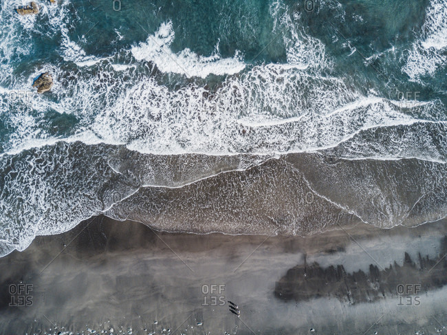 Aerial view of Taganana beach, Santa Cruz de Tenerife, Tenerife, Canary Islands, Spain
