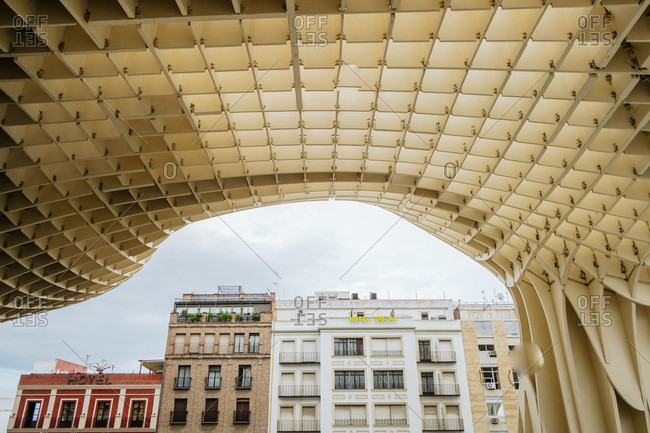 November 1, 2015: Metropol Parasol wooden structure in old quarter of Sevilla, Andalusia, Spain