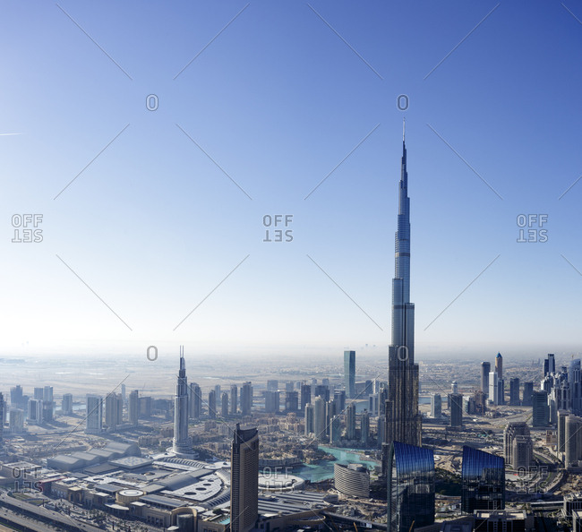 Dubai, United Arab Emirates - November 29, 2013: Burj Khalifa in Downtown Dubai