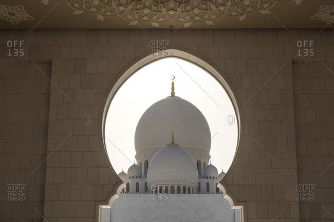 Abu Dhabi, United Arab Emirates - March 16, 2013: Sheikh Zayed Mosque