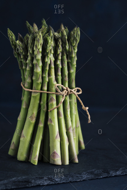 Bunch of asparagus tied together