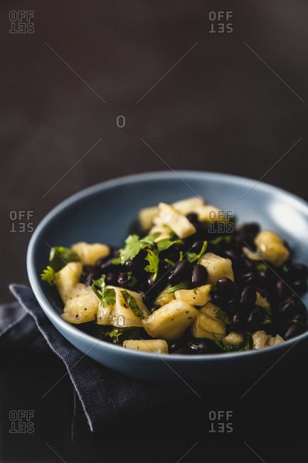 Black bean and pineapple salsa