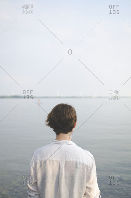 Woman at waterfront
