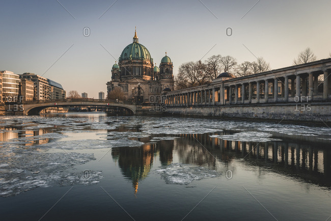 Germany- Berlin- view to Berliner Cathedral at twilight