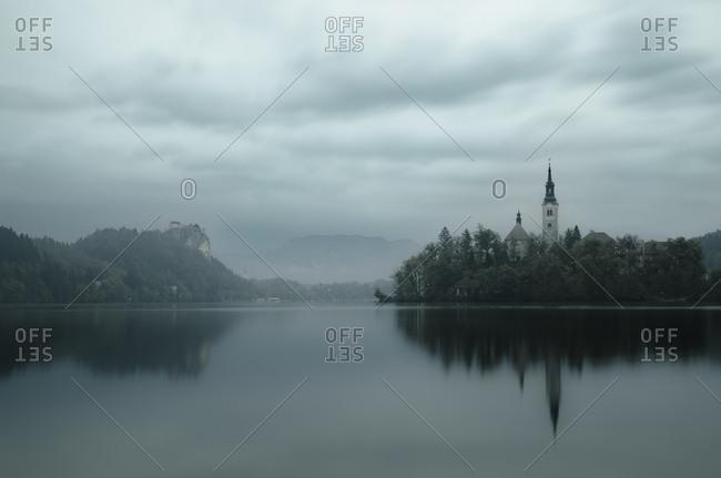 Slovenia- Bled- Lake Bled- Church on island