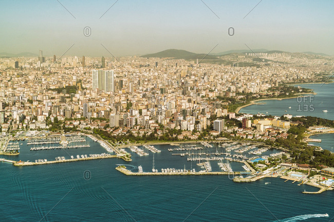 Turkey- Aerial view of the Asian part of Istanbul