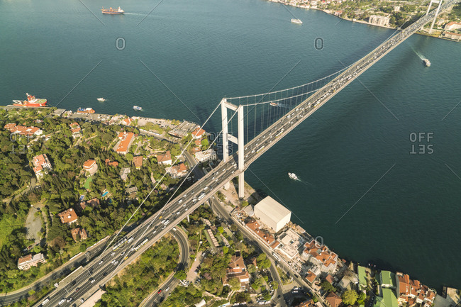 Turkey- Bosporus bridge and the european Istanbul