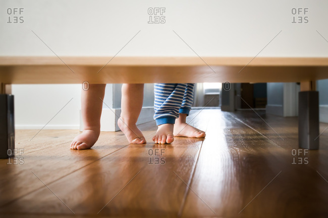 Baby and toddler bare feet