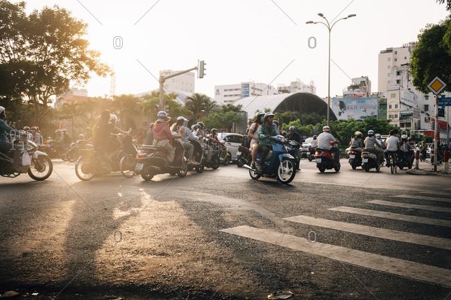 April 15, 2018 - Ho Chi Minh City, Vietnam: In downtown Ho Chi Minh City